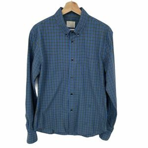 Band of Outsiders Blue Plaid Button Down Shirt Med